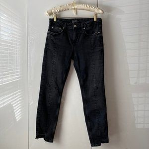 🌸2/$15🌸Zara Distressed Raw Hem Slim Jeans 4